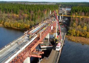 Brückenbau Umeå